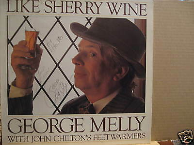 GEORGE MELLY Like Sherry WINE Signed Cover • 8.60£