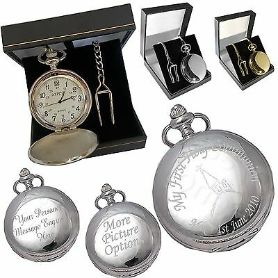£14.99 • Buy Engraved Pocket Watch Confirmation - Naming Day Gift S