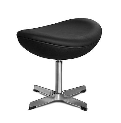 £289 • Buy Footstool Suitable For Arne Jacobsen Egg Chair Retro.Real Leather Black