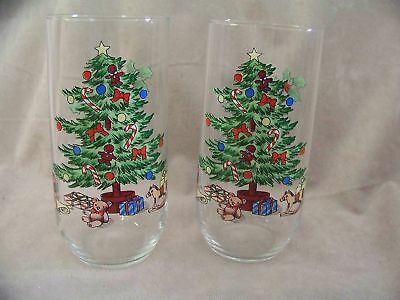 $9.99 • Buy Tienshan Holiday Hostess Pattern 12 Oz. Glassware Tumblers