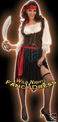 Fancy Dress Costume - Fun Pirate Wench Outfit Xxl 20-22 • 18.50£