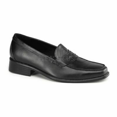 Michael Jackson Costume Shoes - POPSTAR-09 SLIP-ON PENNY LOAFER IN BLACK • 31.22£