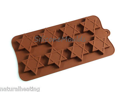 £5.99 • Buy 8 Cell STAR Jewish Christmas Chocolate Silicone Bakeware Mould Candy Cake Mold