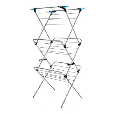 £25.99 • Buy Minky 3 Tier Trio Plus 21m Indoor Clothes Airer Dryer With Flip Outs - Silver