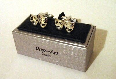 £14.99 • Buy Comedy Tragedy Masks Cufflinks Theatre Opera Ballet Performing Arts