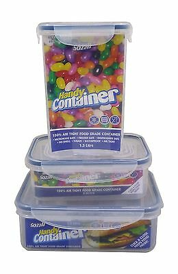 100% Air Tight Food Grade Microwave Freezer Safe Storage Container Box • 1.49£