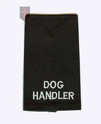 £2.50 • Buy New Dog Handler Epaulette Badge  ( Security Close Protection High Quality