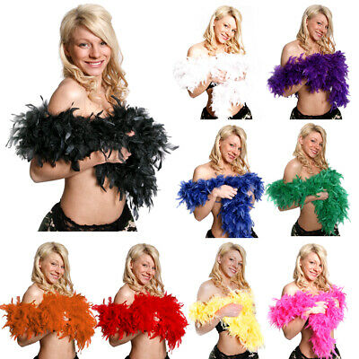 £4.99 • Buy Deluxe Feather Boas 80gr Accessory 1920 Gatsby Flapper Burlesque 20s Fancy Dress
