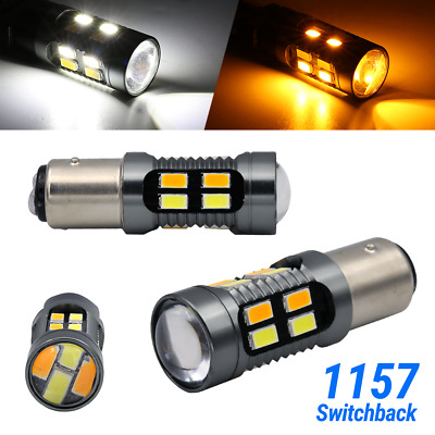 $12.95 • Buy Syneticusa 1157 LED White/Amber DRL Switchback Turn Signal Parking Light Bulbs