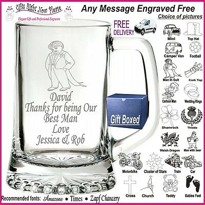 £11.99 • Buy Personalised Engraved Glass Pint Tankard - FREE Engraving FREE Postage