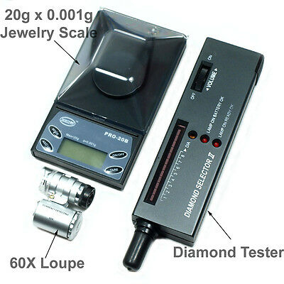 $32.29 • Buy Jeweler Diamond Tool Kit: 20g X 0.001g Precision Scale Diamond Tester 60X Loupe