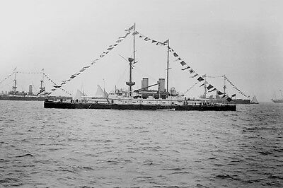 726055 HMS Howe At The Fleet Review 1900 A4 Photo Print • 7.99£