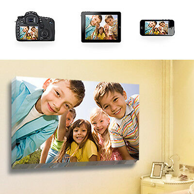 Your Photo Picture On Canvas Print 16  X 12  A3 Box Framed Ready To Hang • 8.99£