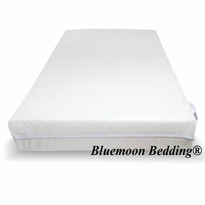 £54.99 • Buy Baby Toddler Cot Bed Breathable QUILTED Removable Cover FIBER Mattress All Sizes