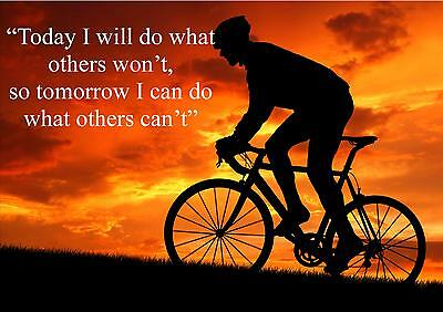 Cycling  Inspirational / Motivational  Poster Print Picture (d) • 7.99£