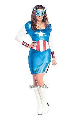 £36.98 • Buy Fancy Dress Costume ~ Ladies Marvel Avengers Miss Captain America 6-18