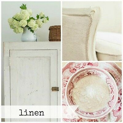 $23 • Buy Miss Mustard Seed's Milk Paint - Linen Off-white - 1 Qt - Furniture Painting DIY