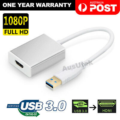 AU14.95 • Buy USB 3.0 To HDMI Converter Cable Display Graphic Adapter For Laptop PC HD 1080P
