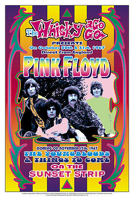 $12 • Buy  Pink Floyd At Whisky A Go Go  Los Angeles. Concert Poster 1967  13 3/4 X 19 3/4