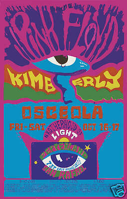 $12 • Buy 1970's  Pink Floyd At Pepperland Theatre Concert Psychedelic Poster 1970