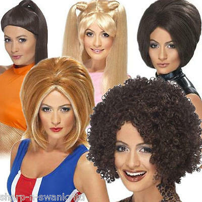 Ladies Posh Ginger Baby Scary Sporty Spice Girls Fancy Dress Costume Outfit Wig • 14.99£