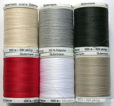 £9.99 • Buy Gutermann Polyester Sewing Thread 1000 Metre ( Choice Of Colour )