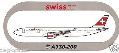 Baggage Label - Swiss - A330 200 - Airbus - Sticker (BL512) • 7.39£