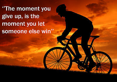 Cycling  Inspirational / Motivational  Poster Print Picture (h) • 7.99£