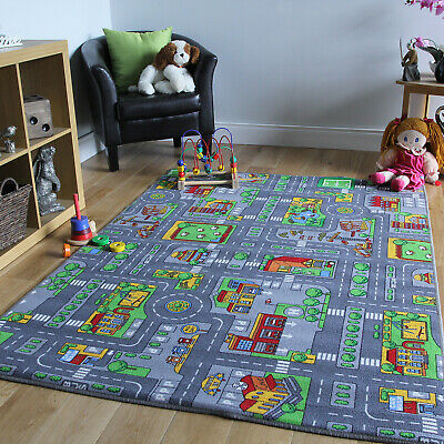 £14.95 • Buy Play Town Village Roads Kids Mats Cheap Small Large Street Cars Childrens Rugs