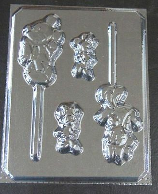 Mickey & Minnie Mouse Lollipop Candy Mold #199 - NEW • 6.73£