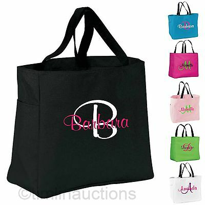 £10.78 • Buy Custom Personalized Monogrammed Tote Bag Bridesmaid Gift Dance Wedding Embroider