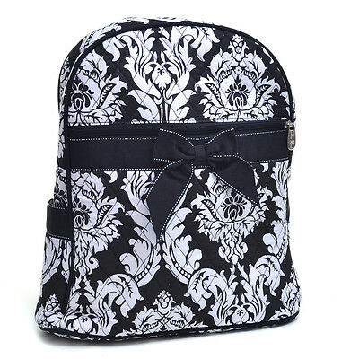 $19.99 • Buy Fashion Luxury Women Backpack Damask Quilted School Bag Girl Purse Black