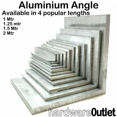 £7.87 • Buy ALUMINIUM EXTRUDED ANGLE - 1000 Mm To 2000 Mm Long - Various Sizes & Lengths