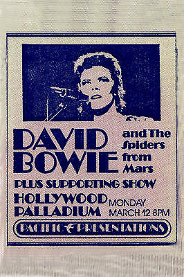 $12 • Buy 1970's David Bowie At Hollywood Palladium Promo Concert  Poster 1973  12x18