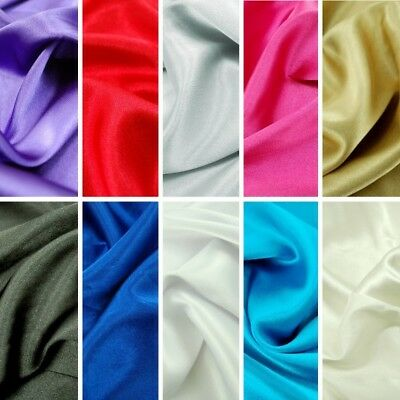 £1.50 • Buy Plain 3% Stretch Satin Fabric Material 97% Polyester Spandex Mix Dress