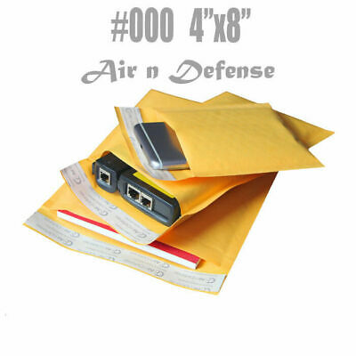 $89.70 • Buy 1000 #000 4x8 Kraft Bubble Padded Envelopes Mailers Shipping Bags AirnDefense