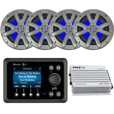 $322.99 • Buy Kenwood Marine Boat CD/MP3 USB Stereo + Remote, 4x 6.5  Speakers, Amplifier