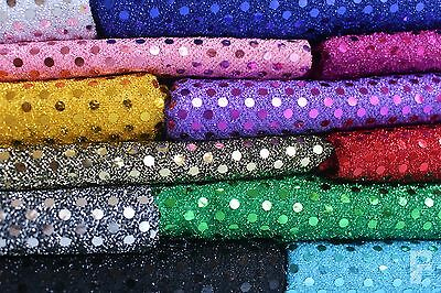 3 Mm SEQUIN FABRIC - ONE WAY STRETCH - 100% POLYESTER - WIDTH 110 CM  • 4.50£