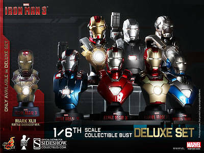 $ CDN412.93 • Buy Hot Toys 1/6 Iron Man 3 Collectible Bust Deluxe Set Of 8 Sideshow HTB14-20 Stark