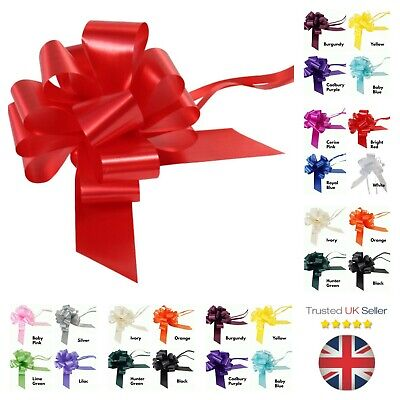 Large 50mm Party Pull Bows Weddings Party Florist Wrap Ribbon Flower UK SELLER • 2.95£