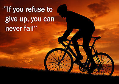Cycling  Inspirational / Motivational  Poster Print Picture (l) • 5.99£