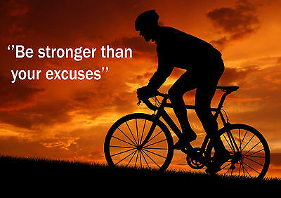 Cycling  Inspirational / Motivational  Poster Print Picture (m) • 5.99£