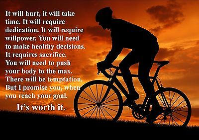 Cycling  Inspirational / Motivational  Poster Print Picture (q) • 5.99£