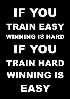 £5.99 • Buy Inspirational Motivational Quote Poster Boxing Running Bodybuilding  Cycling