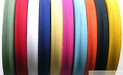 16mm COTTON BIAS BINDING TAPE 33 METRE FULL ROLL ( CHOICE OF COLOURS ) • 5.19£