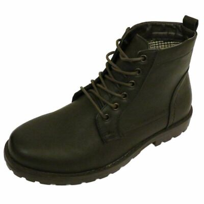 £12.50 • Buy Mens Brown Ex Designer Lace-up Combat Military Army Ankle Boots Shoes Sizes 6-12