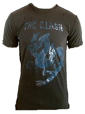 £38.04 • Buy Hot AMPLIFIED Official THE CLASH Dragon Rock Star Vintage ViP Löcher T-Shirt S