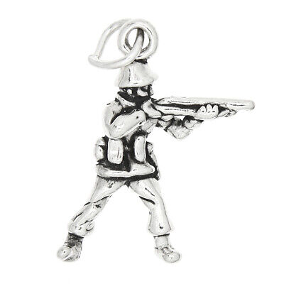 Sterling Silver 3d Toy Soldier Charm Pendant • 7.81£
