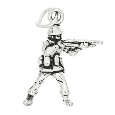 Sterling Silver 3d Toy Soldier Charm Pendant • 8.04£