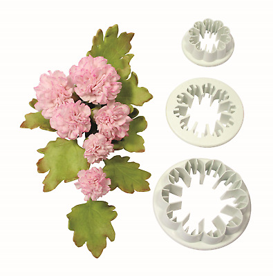 PME Set Of 3 CARNATION Flower Plastic Icing Cut Out Cutters Sugarcraft Cake Dec • 3.89£